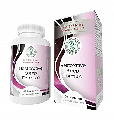 RESTORATIVE SLEEP FORMULA: Special Proprietary Blend of Herbs Magnesium & Melatonin for Natural Sound Sleep and Waking Up Alert – Pharmaceutical Grade No Additives or Fillers Satisfaction Guaranteed