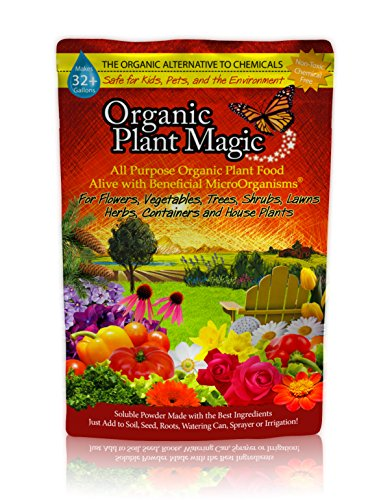 Organic Fertilizers Soil (Plant Magic Plant Food 100% Organic Fertilizer - Easy to Use All Purpose for Indoor Houseplants, Outdoor Flowers, Tomatoes and All Vegetables and Trees (also known as instant Compost Tea) 1/2 lb)