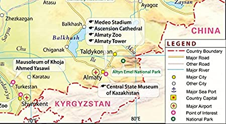 Amazon kazakhstan map 36 w x 1982 h office products publicscrutiny Image collections
