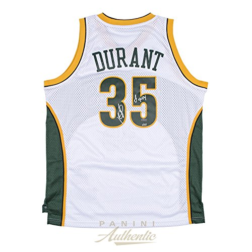 Kevin Durant Autographed White Supersonics Swingman Jersey with