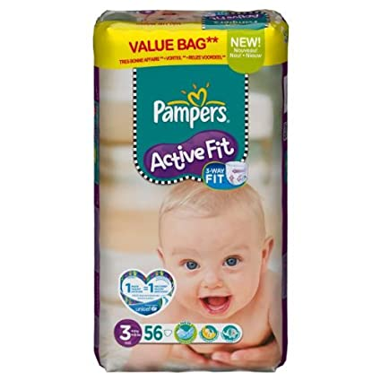 Pampers – 81371228 – Active Fit – Pañales – Talla 3 midi 4 – 9 kg