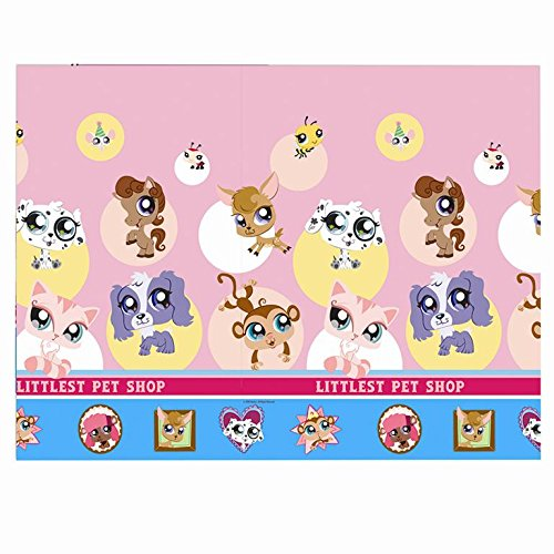 Hasbro 180 x 120cm Plastic Littlest Pet Shop Table Cover - Littlest Pet Shop Table Cover