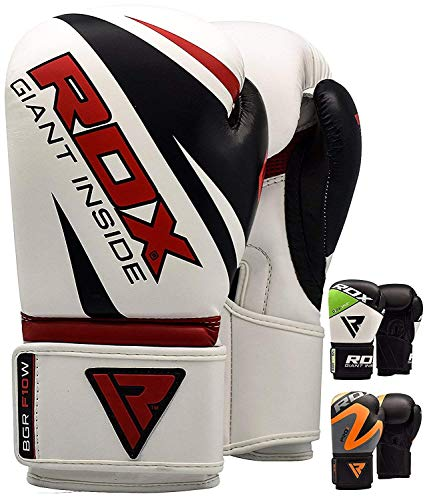 RDX Boxing Gloves Muay Thai Punch Bag Mitts Sparring Punching Maya Hide Leather Training Kickboxing Martial ()