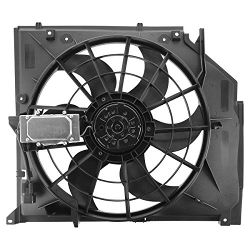 Hex Autoparts Radiator Cooling Fan Assembly for BMW 3 Series E46 323i 325i 325Xi 328i 330i 330Xi 1999 2000 2001 2002 2003 2004 2005 ()