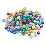 HYGLOSS 69300 300 Alphabet Letter Plastic Colored Beads