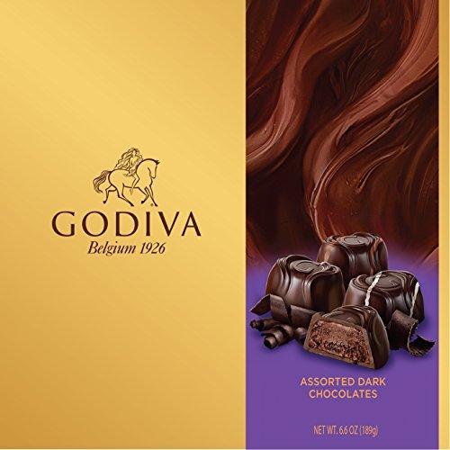 Godiva Chocolatier Dark Chocolate Assorted Bliss 15 Piece Gift Box, 6.6 Ounce