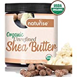 Naturise Shea Butter Raw Organic Unrefined Ivory 16 oz (1 LB) - Highest Grade African Shea Butter - Great for DIY Skincare Products and Body Butter Moisturizer for Dry Skin, Eczema, and Hair Care