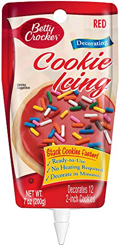 Betty Crocker Cookie Icing 7oz Pouch, Red, 7 Ounce