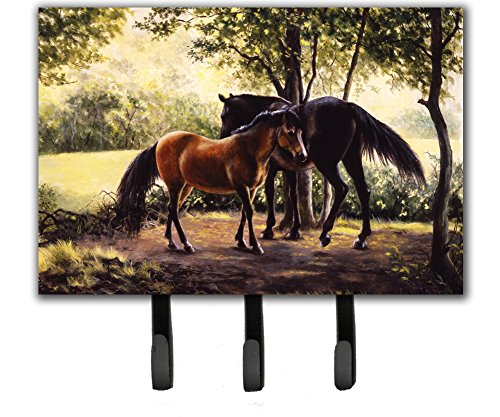 Caroline's Treasures BDBA0055TH68 Horses by Daphne Baxter Leash or Key Holder, Triple, Multicolor