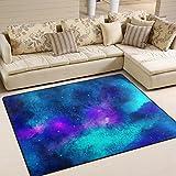 Aideess Triangulum Galaxy Outer Space Area Rugs for Living Room Bedroom 5'3''x4', Kids Children Carpet Rug Non-Slip Floor Mat Resting Area Doormats