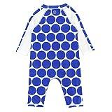 SwimZip UPF 50+ Girls Long Sleeve Sunsuit   Blue