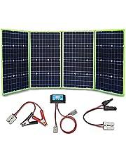 XINPUGUANG 200w 12v opvouwbare zonnepaneelkit zonnelader 4 x 50 watt zonnemodule voor kamperen, wandelen, 12 volt outdoor vrijetijdsbatterij opladen (200)