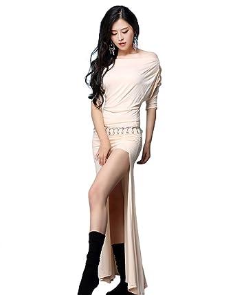 ec3fb647c0050 YiJee Women Dancewear Costume Set Belly Dance Tops Shirts and Skirt   Amazon.co.uk  Clothing