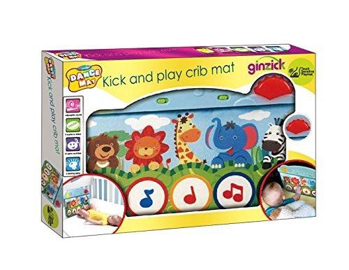 Ginzick Precious Animal Planet Kick and Play Piano Baby Crib Mat