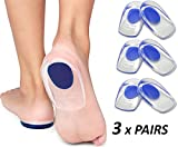 Gel Heel Cups Plantar Fasciitis Inserts - Silicone Heel Cup Pads for Bone Spurs Pain Relief Protectors of Your Sore or Bruised Feet Best Insole Gels Treatment by Armstrong Amerika (Large)