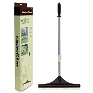Winslow&Ross Artificial Turf Rake Carpet Groomer Brush Adjustable Handle Plastic Head with Nylon Brush Carpet Rake Garden Tools