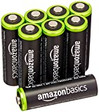 #10: AmazonBasics AA Rechargeable Batteries (8-Pack) Pre-charged - Packaging May Vary