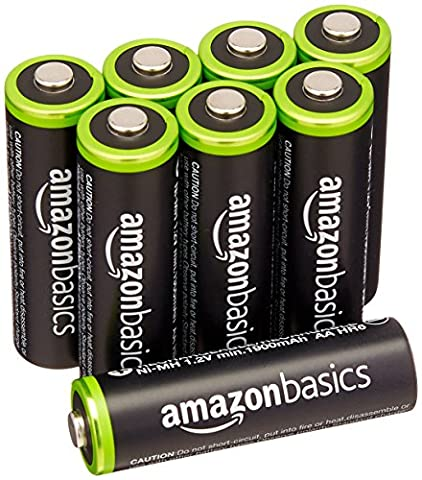 AmazonBasics AA Rechargeable Batteries (8-Pack) Pre-charged - Packaging May (Batterie Aa Ricaricabili)
