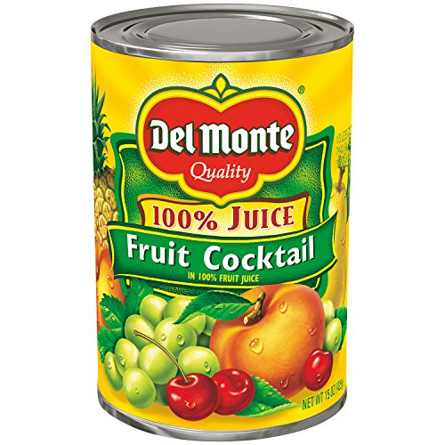 Del Monte Canned Fruit Cocktail in 100% Juice, 15-Ounce