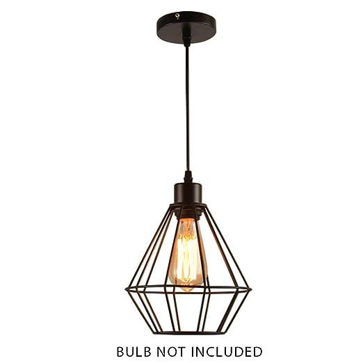 Bclaer72 - Lámpara de Techo Colgante, E27, Estilo Retro, diseño de ...