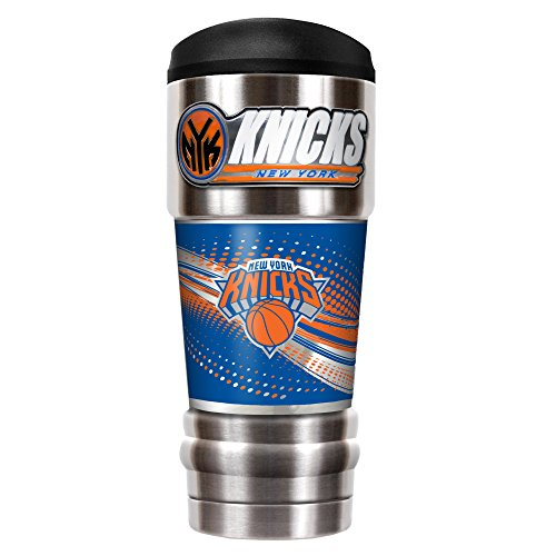 Great American Products NBA New York Knicks Unisex NBA Knicks 18 oz Vacuum Insulated MVP Tumblr, Silver by Great American Products