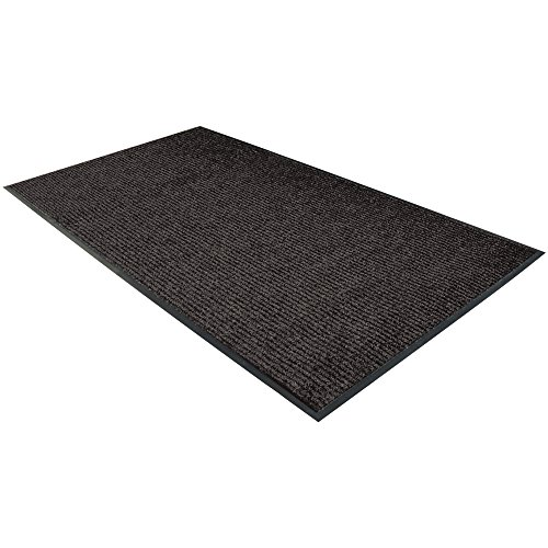 """Boxes Fast BFMAT381CH Deluxe Vinyl Carpet Mats, 48"""" Length, 36"""" Width, Charcoal"""