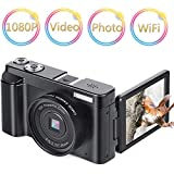 Digital Camera Vlogging Camera Camcorder 24MP Full HD WiFi YouTube Camera 3.0 Inch