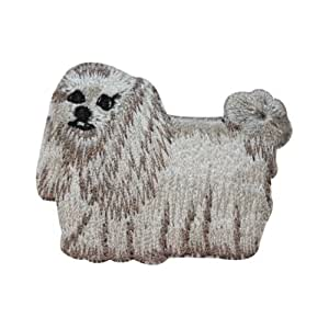 Logo patch embroidered)ID 2760 Shih Tzu Long Haired Dog Patch Puppy Breed Embroidered Iron On Applique + E-book with pictures