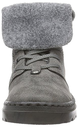 Rieker - botines de caño bajo de material sintético mujer gris - Grau (anthrazit/graphit/dunst / 43)
