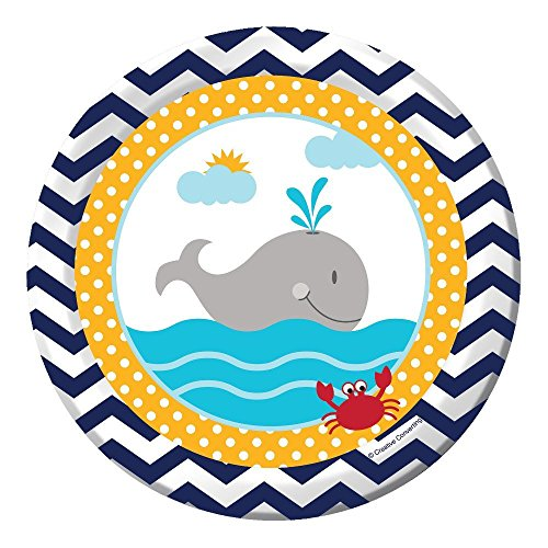 Creative Converting 24 Count Ahoy Matey Luncheon Paper Plates (Value Pack) ()