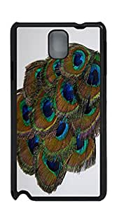 Design Phone Protective Cover case for samsung galaxy note 4 for girls - Green Peacock_Feather