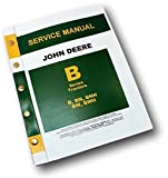 John Deere B Bn Bw Bwh Bnh Styled Tractor Master Service Manual Repair Shop New