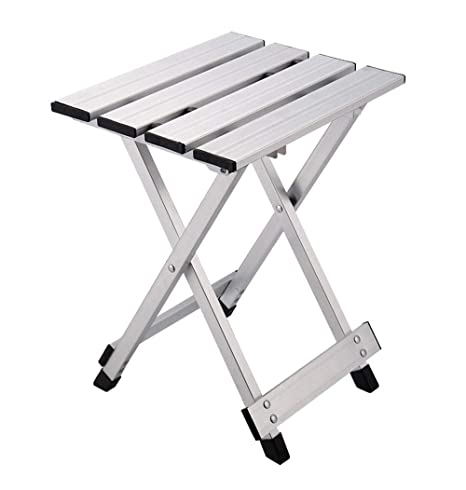 Magnificent Amazon Com Hhxwu Stool Aluminum Folding Stool Folding Chair Ibusinesslaw Wood Chair Design Ideas Ibusinesslaworg