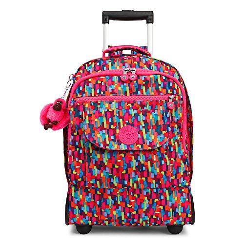 Kipling Women's Sanaa Large Printed Rolling Backpack One Size Blooming Geo