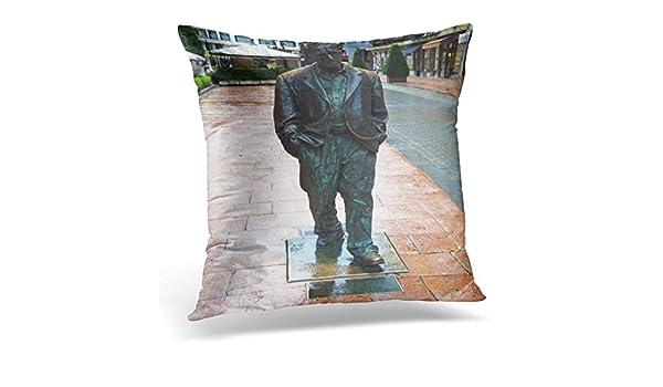 Amazon.com: Emvency Throw Pillow Covers Oviedo Spain August ...