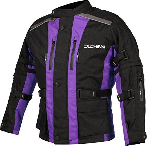 (DUCHINNI Unisex Child Motorcycle Jacket (Purple, X-Small) )