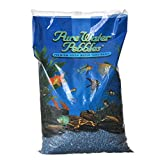 World Wide Imports Pure Water Pebbles, Frosted Deep Blue Frost, 25 lb
