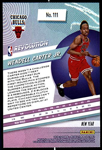 Amazon.com: 2018-19 Revolution Chinese New Year Red Parallel Basketball #111 Wendell Carter Jr. Chicago Bulls Rookie Official NBA Trading Card From Panini: ...
