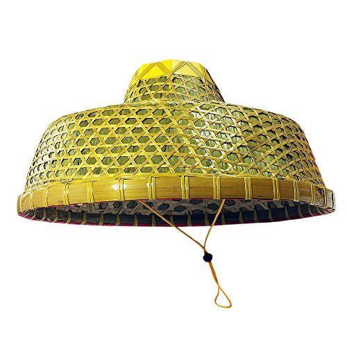 Rice Paddy Hat Costume (Sunnyhill(TM) Chinese Natural Bamboo Braid Hats Ancient Conical Coolie Big Hat Fishing Hat)