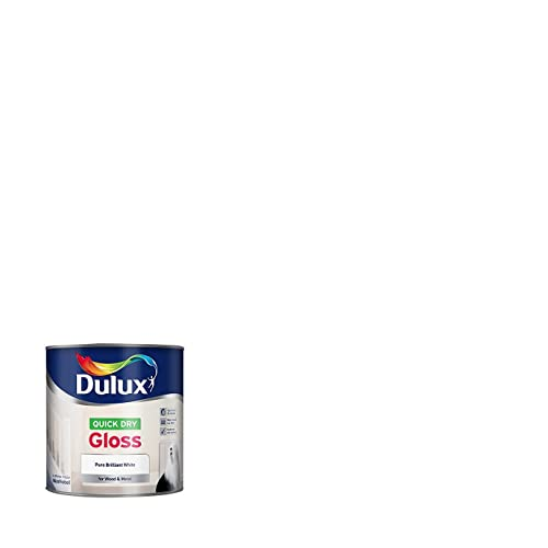 Dulux Quick Dry Gloss Paint, 750 ml - White