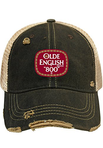 Original Retro Brand Olde English 800 Malt Liquor Brewing Company Retro Brand Beer Mesh Hat (Malt Liquor Beer)