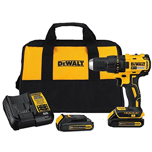 DEWALT DCD777C2 20V Max Lithium-Ion Brushless Compact Drill - New Battery 2 X