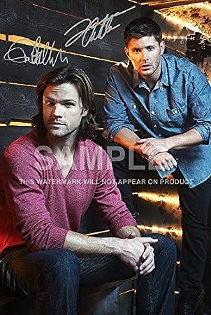 Amazonde Supernatural Poster Signiert Von Pp Jensen Ackles Jared