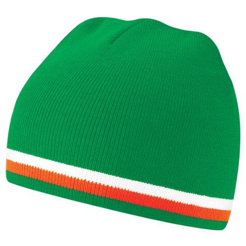 Beechfield - Gorro Beanie de invierno nacionalidades /Colores banderas países del mundo Green/White/Orange