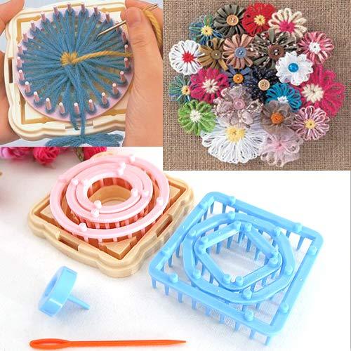 Daisy Loom - 9PCS Flower Knitting Loom Knit Daisy Pattern Maker Wool Yarn Needle Home Craft Ameesi