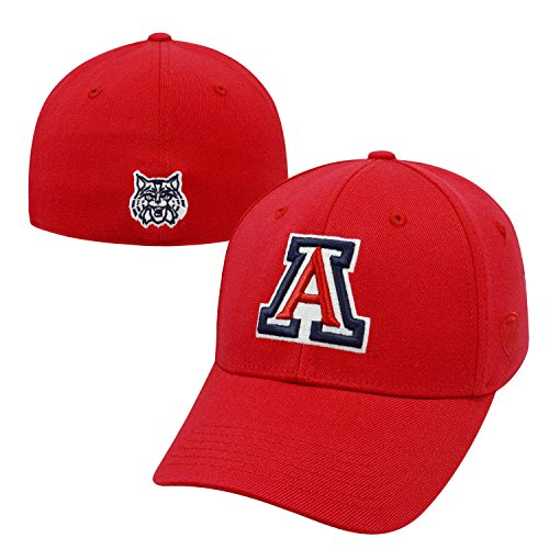 Wildcats Hat Arizona (Top of the World Arizona Wildcats Official NCAA One Fit Premium Cuff Hat Cap by 465517)
