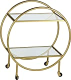 Renwil Bass Bar Cart in Antique Gold