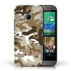 KOBALT? Protective Hard Back Phone Case / Cover for HTC One/1 Mini 2 | Brown 1 Design | Camouflage Army Navy Collection