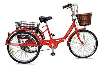 Jorvik 20″ Vintage Dutch Estilo Plegable Marco Adulto O para niños Triciclo - Rojo Dutch