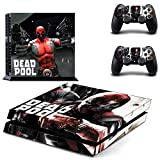 Lucky Store Brand New PS4 Console and 2 Controllers DEADPOOL Skin Decals of Marvel DeadPool Designed Skin Stickers